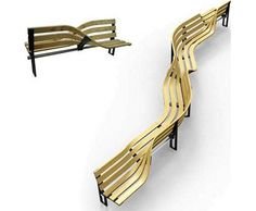 Alternatively, start by yourself and seat more as they come with the FlexibleLove super-bench. Composed of plywood and structured like an accordion, this remarkable design is transformable and configurable, portible and pragmatic, blending modern elegance with simple style and effective engineering.