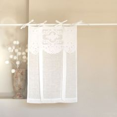 Store bateau crochet 60 x 140 cm lilie rose d co brises for Fenetre 45x60