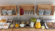 Our new and improved breakfast buffet served with tea coffee or hot chocolate pre book for 5 euros on arrival