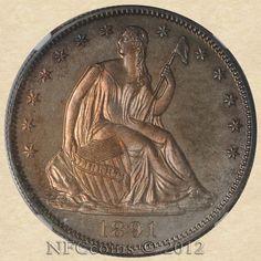 1891 Seated Liberty Half PF64 NGC, obverse