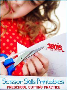 These Preschool Cutting Practice {Free Printable Worksheets} will help your Toddler, Preschool, and Kindergarten children improve scissor skills, dexterity, and fine motor skills. Fine Motor Activities For Kids, Preschool Learning Activities, Free Preschool, Preschool Activities, Toddler Preschool, Preschool Cutting Practice, Scissor Skills, Scissor Practice, Printable Preschool Worksheets