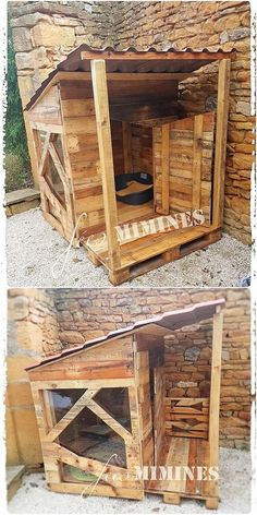 What a brilliant use of wood pallet has been featured inside this art work creation that would be breath-taking to view out. This wood pallet whole creation is featuring you with the wood pallet dog house that is has been all designed out in the hut shaping effect. You will love it!