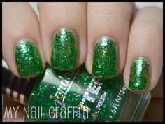 green glitter! although i'd probably only wear it for st.patties day...