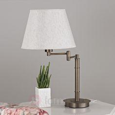 Piękna lampa stołowa POLA z brązową oprawą 9620583
