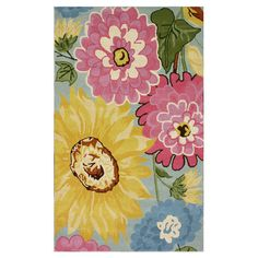 Hand-tufted+wool+rug+with+a+floral+motif.+  Product:+RugConstruction+Material:+100%+WoolColor:+Mu...