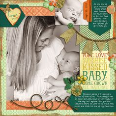 All-natural baby by Brook Magee and Libby Pritchett  Template by Little Green Frog Font CK Journaling  Breanne Larson photography