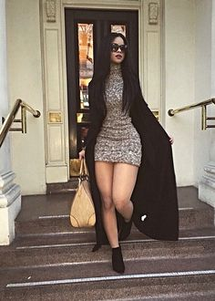 Shop from the best fashion sites and get inspiration from the latest sweater dress. Fall Winter Outfits, Autumn Winter Fashion, Summer Outfits, Casual Outfits, Cute Outfits, Fashion Outfits, Womens Fashion, Black Skirt Outfits, Fashion Clothes