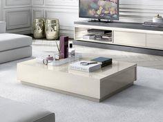 Avantgarde modern coffee table in ivory high gloss 2