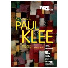 The EY Exhibition - Paul Klee: Making Visible exhibition poster