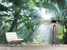Raumansicht Wohnzimmer Fototapete Dschungelstar
