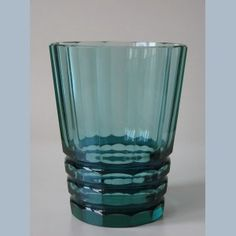 art deco dark green glas