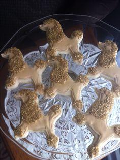 Gold Poodle Sugar Cookies