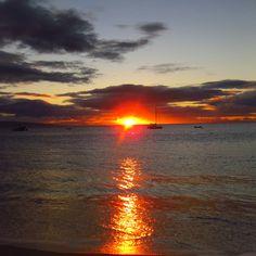 Hawaii summer sunset.