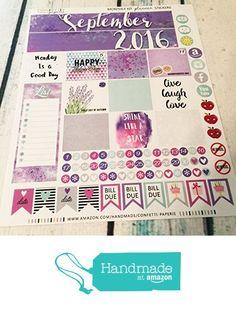 SEPTEMBER 2016 Planner Stickers - Monthly Headers - Planner Sticker Bundle - AUGUST Collection, Erin Condren Stickers, Life…