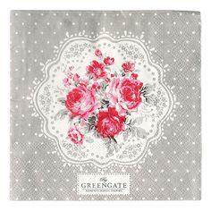 GreenGate Paper Napkin Coco White Small 20 Pieces   NEW! GreenGate Autumn/Winter 2014   Originated-Shop