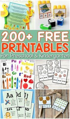 "The post ""Hundreds of free educational printables for preschoolers and kindergartners! Pages for everything from math and fine motor practice to letter recognition and early literacy!"" appeared first on Pink Unicorn Education Preschool Learning Activities, Homeschool Kindergarten, Preschool At Home, Free Preschool, Preschool Printables, Preschool Lessons, Preschool Binder, Preschool Curriculum Free, Free Alphabet Printables"