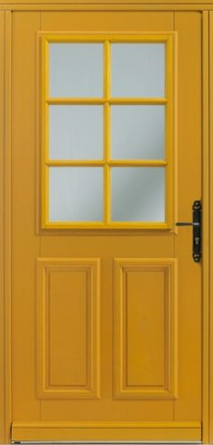 Porte bois, Porte entree, Bel'm, Classique, Poignee plaque couleur argent, Sans vitrage, Lorca