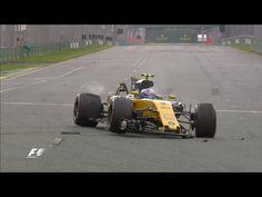 F1 Melbourne 2017 FP2 Joylon Palmer did crash his car. 24th of March 2017.