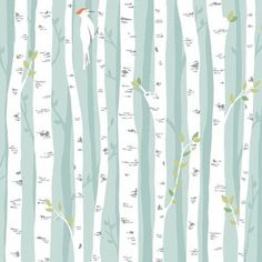 Could use text print fabric for trees. Patty Sloniger - Backyard Baby - Birch Forest in Aqua. This as throw pillows will brighten up my living room!
