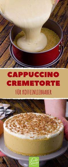 Cappuccino Fernab Der Tasse Als Cremige Torte Mit Keksboden   Da Schlägt  Das Herz Höher!