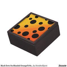 Black Dots On Blended OrangeToYellow Premium Trinket Box