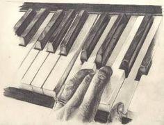 Piano keys sketch ii by on deviantart pencil musica. Music Drawings, Pencil Art Drawings, Art Drawings Sketches, Drawing Piano, Piano Art, Videos Kawaii, Piano Keys, Mandala Drawing, Art And Illustration