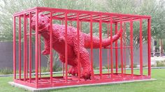 Sui Jianguo's Jurassic Age in front of Phoenix Art Museum