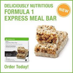The new Formula 1 Express Meal Bar is a delicious way to enjoy a nutritious meal anytime, anywhere. Packed with 21 essential vitamins, minerals and nutrients, these delicious Cookies 'n Cream flavored bars make it easier than ever to expand your meal options and enjoy the Formula 1 experience on the go!  Key Benefits        Contains 21 vitamins and minerals.      Packed with 15 g of protein.      5 g of healthy fiber to help support weight management.