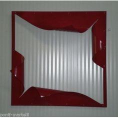 CORNICE design FERRO BATTUTO per Specchio o Foto . cm 60 x 60 . colore Rosso . 849