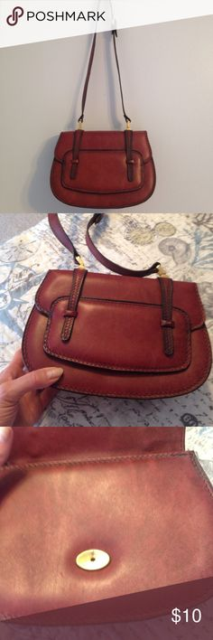 """🆕 Listing!  Adorable Small Burgundy Bag This little bag is so striking and just the perfect size for the essentials.  A few very minor signs of wear as shown in the pics but overall, a beautiful piece. Measures approximately 9x6 with 3"""" wide bottom.  So cute! Bags Mini Bags"""