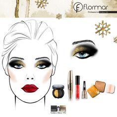 Look #2 para #Navidad: smokey eyes oro con detalle brillante en los labios, absolutamente espectacular