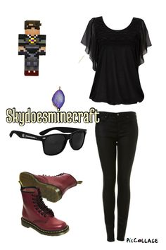 Skydoesminecraft outfits a vids p.s.im her daughter lol