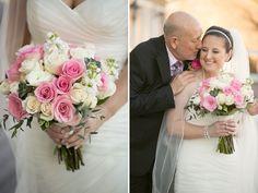 Wedding Bouquet, pink & cream florals, Father of the Bride greenwood_wedding_photography_bekah&josh_04