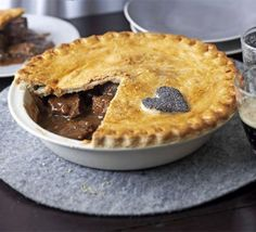 A steak and ale pie is a comforting classic - this version has suet pastry and a dark rich gravy