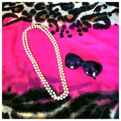 Pearl Necklace Costume pearls. Can be worn long or as a double-strand. Jewelry Necklaces