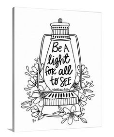 'Be a Light for All to See' Coloring Canvas