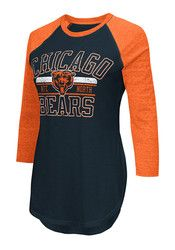 Chicago Bears Womens Hang Time Navy Blue T-Shirt Chicago Bears Gear, Navy Blue T Shirt, Chicago Shopping, Cincinnati Bengals, Navy Women, New Outfits, Clothes For Women, Sweatshirts, Mens Tops