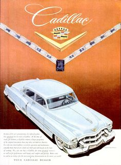 Directory Index: Cadillac & Cadillac, Vintage Advertisements, Vintage Ads, Vintage Posters, Classic Motors, Classic Cars, Automobile, Car Posters, Car Advertising