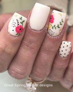 Amy Tangerine Post-It Note Covers - The Benson Street deko mandarinen Spring Nail Art, Nail Designs Spring, Spring Nails, Nail Art Designs, Fun Nails, Pretty Nails, Nice Nails, Manicure, Flower Nail Art