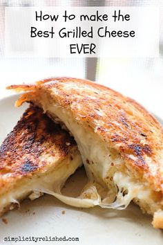 Crispy on the outside, melty on the inside? Here's how to make the best grilled cheese at home-- and it's surprisingly easy! #recipe #sandwich