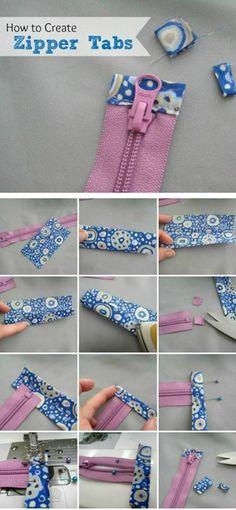 How to create zipper tabs