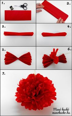 DIY How to Make a flower out of Paper Napkin – Desserts Obst Diy Party Decorations, Paper Decorations, Flower Decorations, Diy Crafts For Gifts, Crafts For Kids, Paper Crafts, Handmade Flowers, Diy Flowers, Tissue Paper Flowers