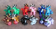 Mini Dice Dragon Couples by DragonsAndBeasties.deviantart.com on @deviantART