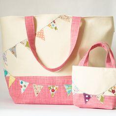 Girl's Mini Shopping Bag Bunting Tote £18.00