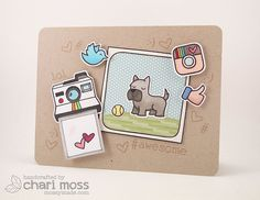 Lawn Fawn - #Awesome, Critters at the Dog Park _ Adorable #awesome card by Chari for Lawn Fawn Design Team, via Flickr