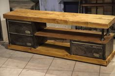 Whalen Industrial Metal And Wood Workbench Item 707636 At