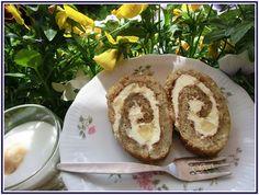 Lecker mit Geri: Bananen-Biskuitrolle - Бананово руло  #ichbacksmir #biskuit