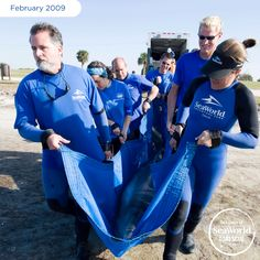 SeaWorld sent a 15-person rescue team to help relocate this female dolphin after she lost her way. #365DaysOfRescue