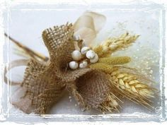 Wheat And Burlap Corsage Perfect For Rustic Or by sparkleandposy