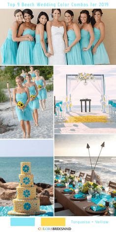 Top 9 beach wedding color combos ideas for 2019 - red, turquoise and yellow Beach Wedding Guest Attire, Wedding Outfits For Groom, Beach Wedding Bridesmaids, Beach Wedding Colors, Beach Wedding Photos, Red Wedding Dresses, Beach Wedding Photography, Seaside Wedding, Beach Weddings